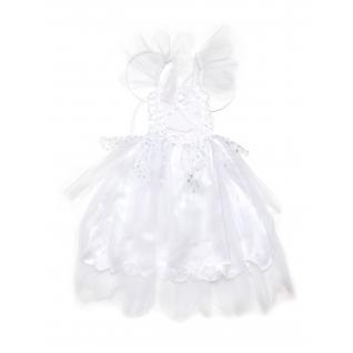 Карнавальный наряд - Белое платье с крыльями бабочки, 4-6 лет Snowmen