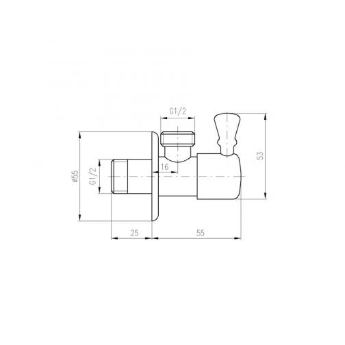 Вентиль с керамической головкой в бронзе Rav Slezak ROH001SM 6760383 2