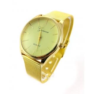 Часы Geneva на металлическом золотом ремешке