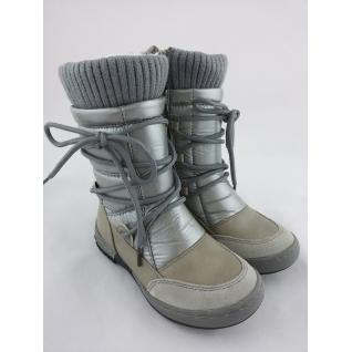 G11152В серый сапожки зимние для девочки р.25-30 (29) Барракуда