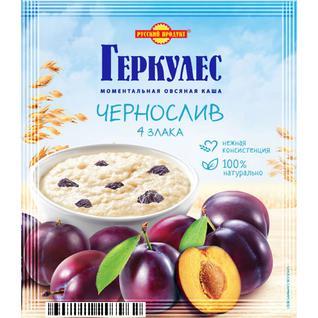 Русский продукт Овсяная каша момент Геркулес 4 злака с черносливом 35г