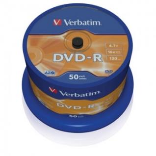 Носители информации Verbatim DVD-R 4,7Gb 16х Cake/50 43548