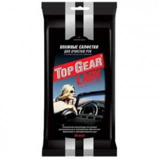 Салфетки влажные для авто Top Gear Lady №30
