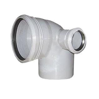 Отвод ПП универсальный 110х50х90 гр. с кольцом- Правый Россия