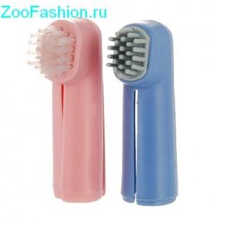 Набор зубных щеток-напальчников для собак ( )