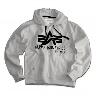 """Alpha Industries Толстовка Alpha Industries с большим """"A"""" серого цвета"""
