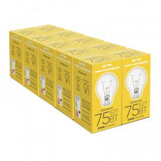 Электрическая лампа СТАРТ стандартная/прозрачная 75W E27 10 шт