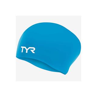 Шапочка для плавания Tyr Long Hair Wrinkle-free Silicone Cap, силикон, Lcsl/332, голубой