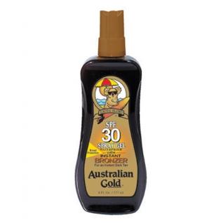 SPF 30 Spray Gel with bronzer - Водостойкий спрей-гель с фактором защиты 30 и бронзаторами Australian Gold