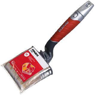 АНЗА кисть изогнутая 75мм для наружных и внутренних работ / ANZA Elite 347575 кисть флейцевая 75х20мм искусственная щетина прорезиненная ручка Анза