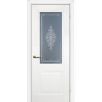 Дверное полотно Profilo Porte PSC-27, 29 Цвет Белый, Магнолия, Стекло
