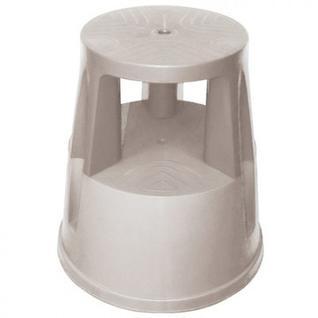 Табурет-стремянка передвижной MDM_VSP.001.GR 410 круглая на колесах серый