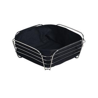 Корзина для хлеба со съемной подкладкой KESPER 25 х 25 х 10 см, черный
