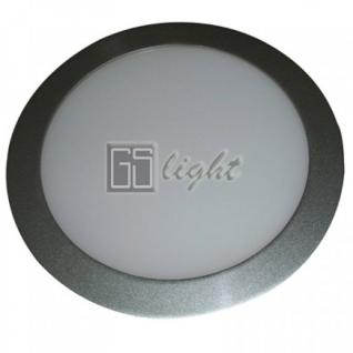 GSlight Светодиодная панель 240x12 (серый круг) 11W Warm White