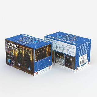 Гирлянда светодиодная Айсикл(бахрома) 48, 1,8 х 0,5 м, 230 В, синие 255-013