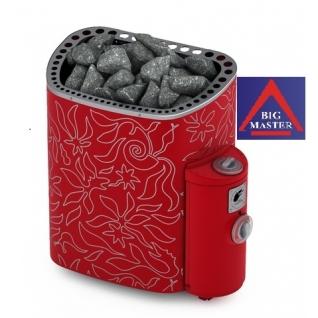 Печь для сауны Sawo MiniDragon MN-23NB-DRF-P (дизайнерская, красная, с термопокрытием, из нержавейки, с пультом)