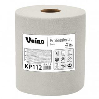 Бумага протирочная Veiro Prof Basic 2сл нат втул 172м/800л 6рул/корKP112