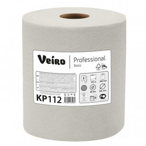 Бумага протирочная Veiro Prof Basic 2сл нат втул 172м/800л 6рул/корKP112 40100852