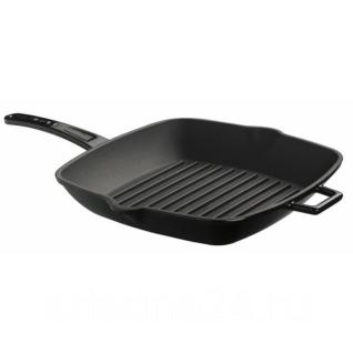 LAVA Литая чугунная сковорода-гриль LAVA BLACK 26х26см
