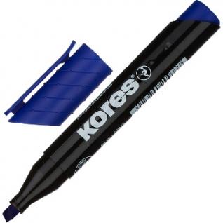 Маркер перманентный KORES синий 3-5 мм скошенный наконечник ?20953