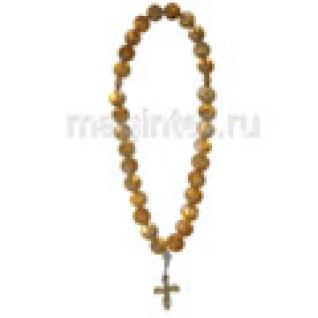 Четки православные из цитрина, 8 мм