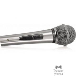 Bbk Микрофон BBK CM131 серый/черный унивирсальный динамический, тип разъема Jack 6.3, материал корпуса металл