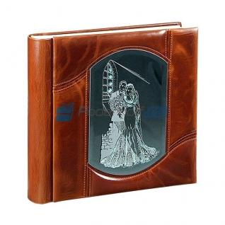 Свадебный альбом с фигурной вставкой «Двое» в кейсе