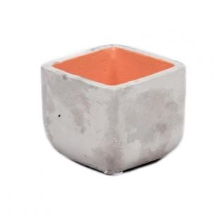Кашпо для суккулентов оранжевое