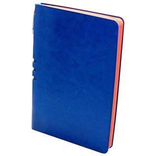 Бизнес-тетрадь Attache Light Book А5 112л,линия,цв.срез, кожзам ярко-синий