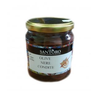 SANTORO Черные оливки со специями 314мл
