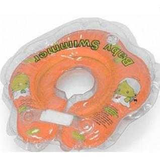 Круг для купания BabySwimmer BS02O-B оранжевый (полуцвет в нутри погремушка) 3-12кг