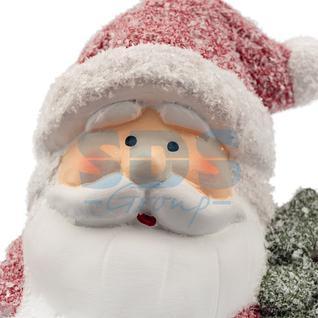 Neon-Night Керамическая фигурка «Дед Мороз с елочкой» 10.7х9.2х15.4 см