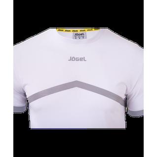 Футболка тренировочная Jögel Jct-1040-018, хлопок, белый/серый размер L