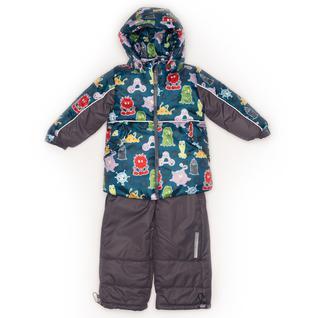Комплект MalekBaby (Куртка + Полукомбинезон), Без опушки, №271/1 (Инопланетяне+серый) арт.409ШМ