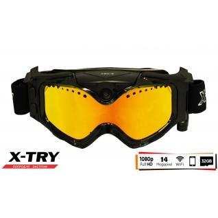 Маска с камерой X-TRY XTM100R HD1080P WiFi (линза Red)