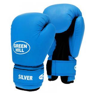 Перчатки боксерские Green Hill Silver Bgs-2039, 10oz, к/з, синий