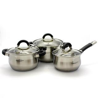 Катунь Ирида, Набор посуды 6 предметов (ковш 1,9 л; кастрюли 2,9 л и 3,9 л с крышками)