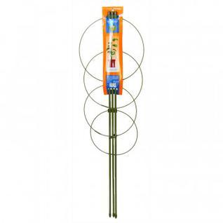 Опора для растений Круглая (4 кольца) металл h90см 466340