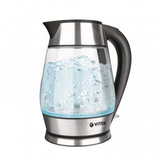 Чайник Vitek VT-7037, 2200 Вт, 1,7 л,термостойк. стекло