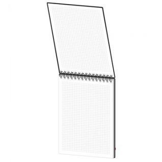 Блокнот Simplex 12,А5,100л,140х200,пластик, на резинке, клетка,0012