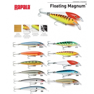 Воблер плавающий Rapala Floating Magnum FMAG11-CH (2,7м-3,3м, 11 см 15 гр)