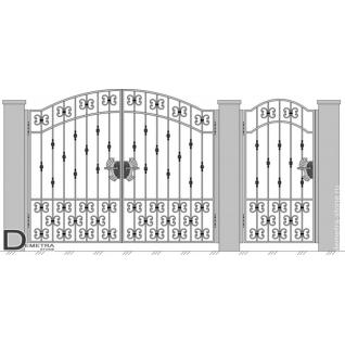 Кованые ворота калитка В-009 (кв.м)