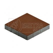 Квадратная брусчатка коричневая 300х300х50 мм (Steingot)