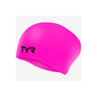 Шапочка для плавания Tyr Long Hair Wrinkle-free Silicone Cap, силикон, Lcsl/693, розовый