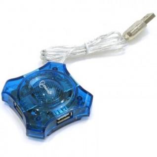Разветвитель USB 2.0 Gembird UHB-C224, 4 порта, прозр.корпус, блистер