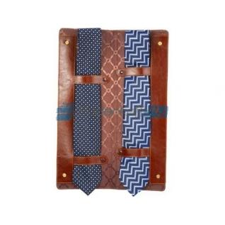Чехол для галстуков Alessandro Venanzi, коричневый на кнопках