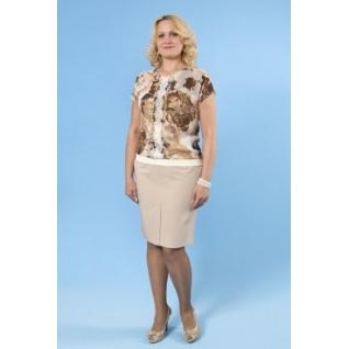 Шифоновая блуза с кор. рукавом 48 размер