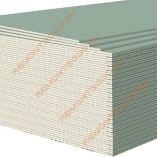 ГИПРОК Аква Оптима гипсокартон влагостойкий 2700х1200х12,5мм (3,24м2) / GYPROC Аква Оптима ГКЛВ гипсокартонный лист влагостойкий 2700х1200х12,5мм (3,24 кв.м.) Гипрок