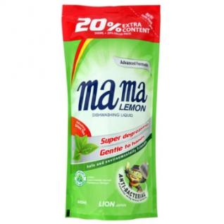 Средство для мытья посуды конц. гель Mama Lemon 600 мл(зеленый чай)
