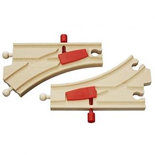Железнодорожное полотно с переключателем направления, 2 детали Brio